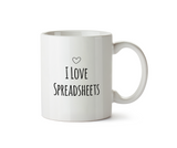 I Love Spreadsheets Mug - Promofix Gifts