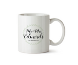 Mr & Mrs Wedding Date Ceramic Mug Personalised