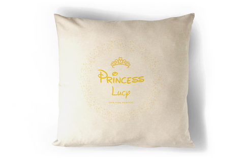100% Pure Princess Yellow Cushion Personalised