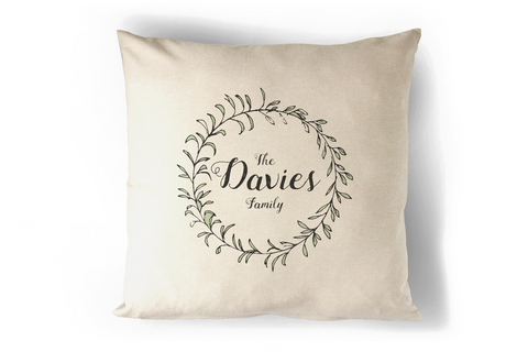 Your Family Name Cushion Personalised