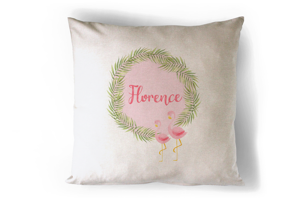 Flamingo Cushion Personalised