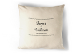 Mr & Mrs Wedding Date Personalised Cushion