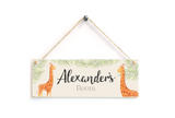 Giraffe Personalised Door Plaque