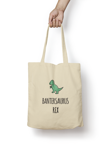 Bantersaurus Rex Cotton Tote Bag - Promofix Gifts