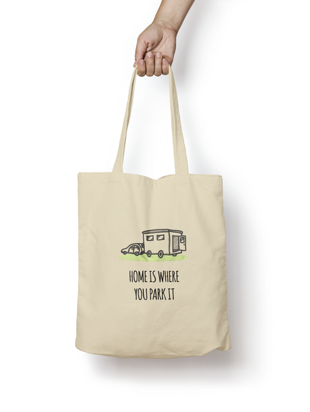 Home is Where You Park it Cotton Tote Bag - Promofix Gifts