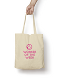 Worker of the Week Cotton Tote Bag - Promofix Gifts