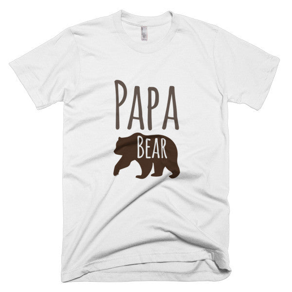 Papa Bear Short Sleeve Men's T-shirt - Promofix Gifts   - 1
