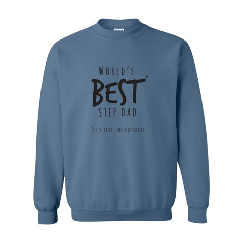 Worlds Best Step Dad Sweatshirt - Promofix Gifts   - 1
