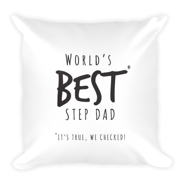 Worlds Best Step Dad Pillow - Promofix Gifts