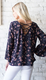 Floral on Navy