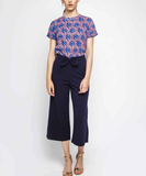 Navy Culotte Trousers
