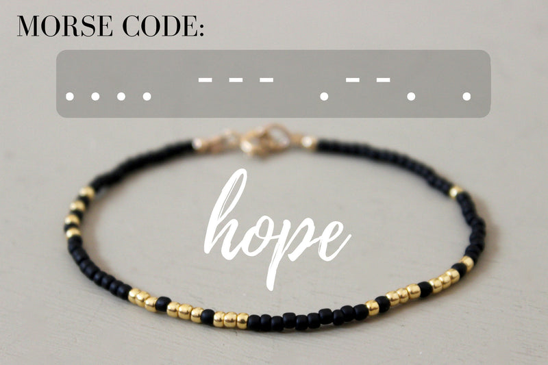 Hope Morse Code Bracelet - Designed By Lei