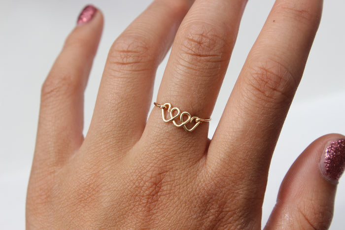 Triple Heart Ring - Designed By Lei