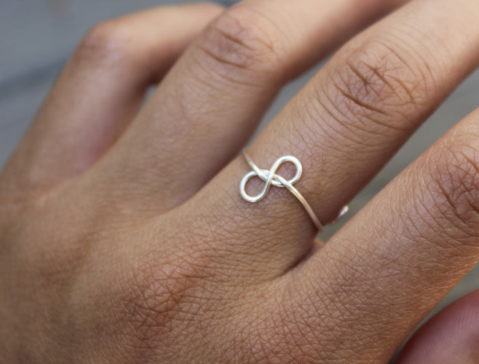 Sideways Infinity Knot Ring - Designed By Lei