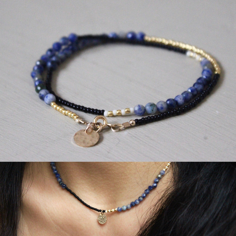 Black, Blue and Gold Wrap - Designed By Lei