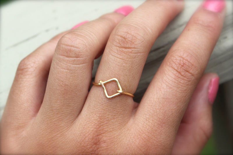 Diamond Geometric Ring - Designed By Lei