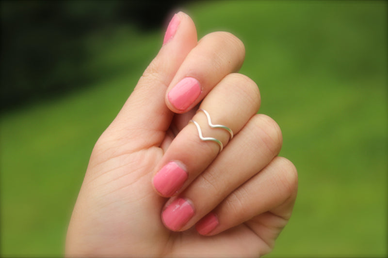 Chevron Knuckle Rings - Set of 2 - Designed By Lei