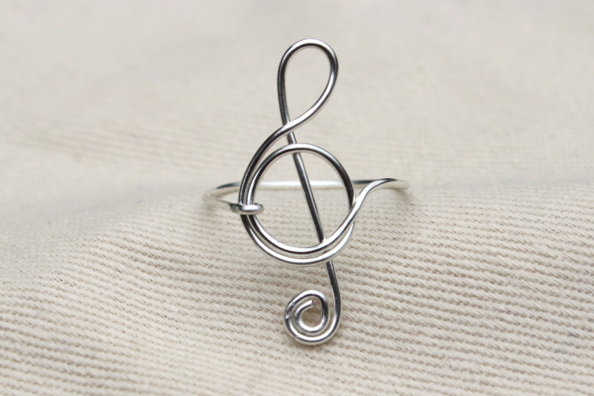 Treble Clef Ring - Designed By Lei