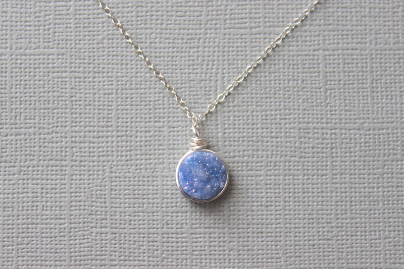 Purple Druzy Pendant Necklace - Designed By Lei