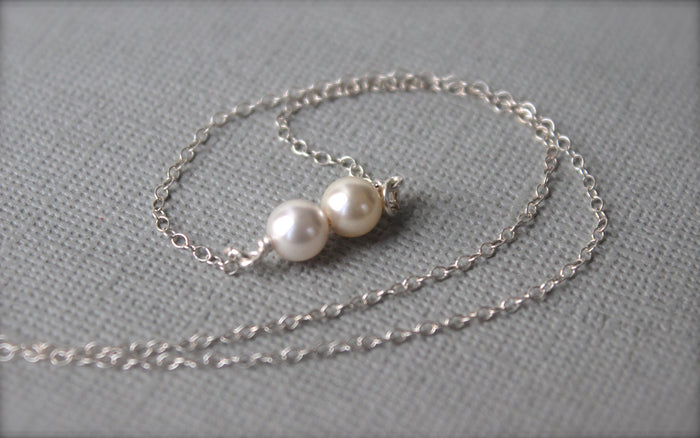 Double Pearl Necklace - Designed By Lei