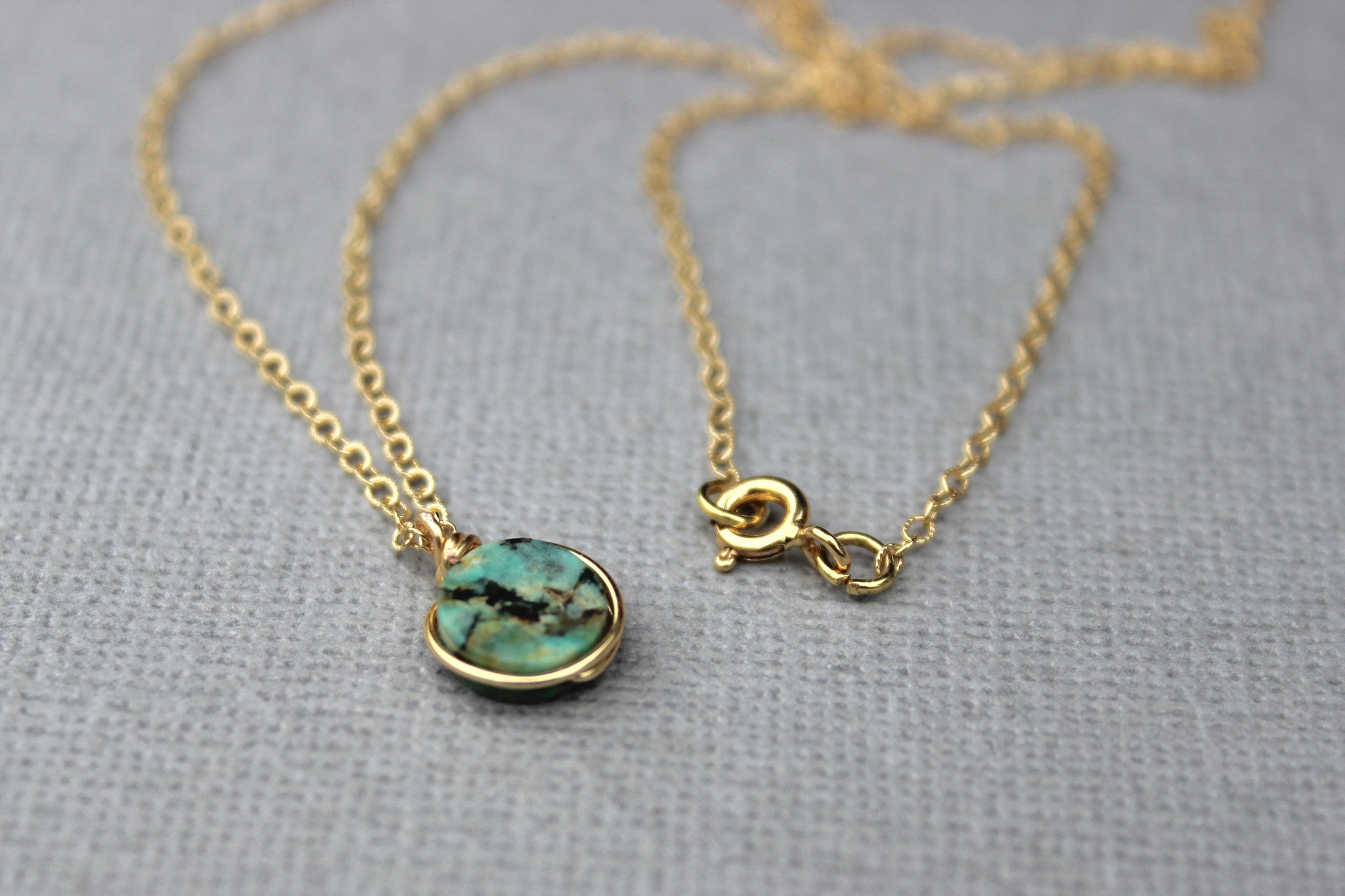 Turquoise Pendant Necklace - Designed By Lei