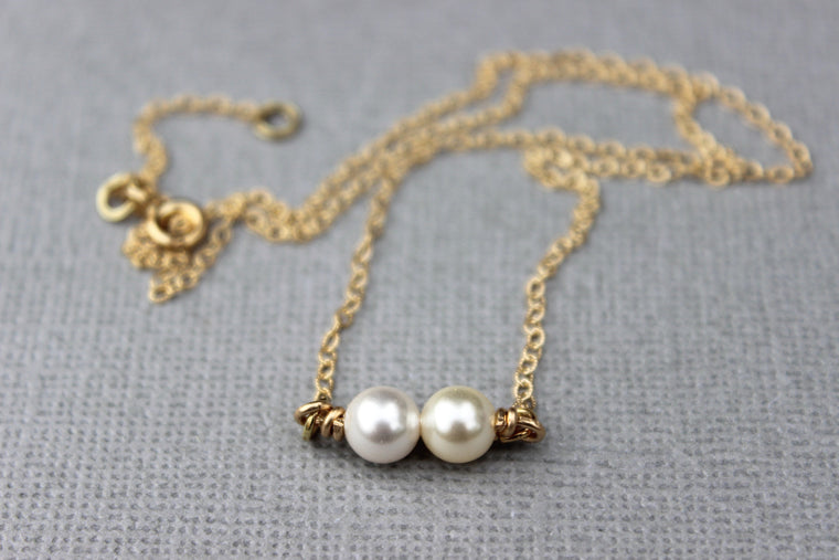 Double Pearl Necklace