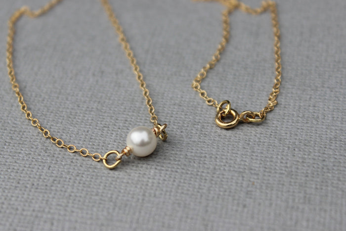 Single Pearl Necklace - Designed By Lei