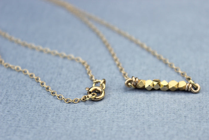 Gold Nugget Necklace - Designed By Lei