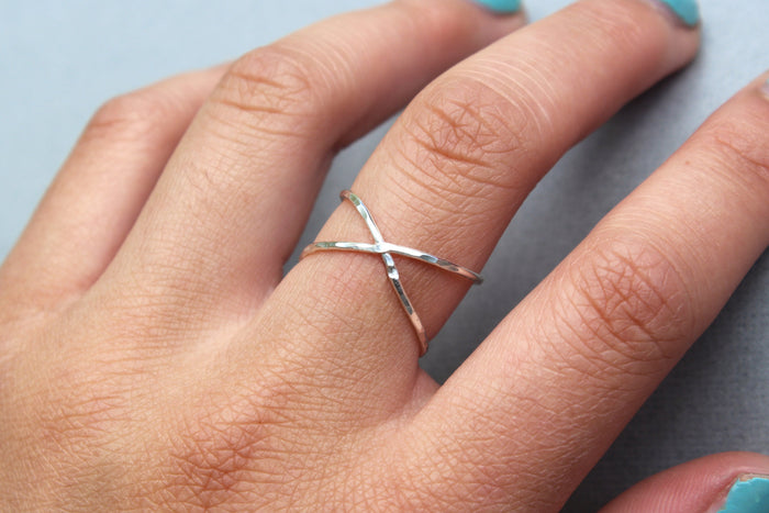 Silver X Ring - Designed By Lei