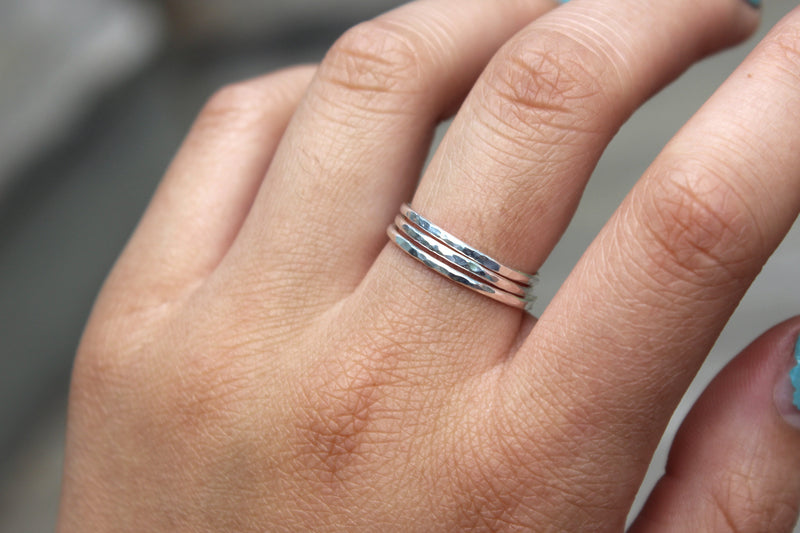 Sterling Silver Stacking Rings - Designed By Lei