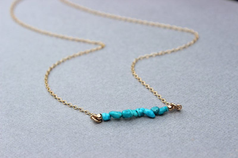 Turquoise Bar Necklace - Designed By Lei