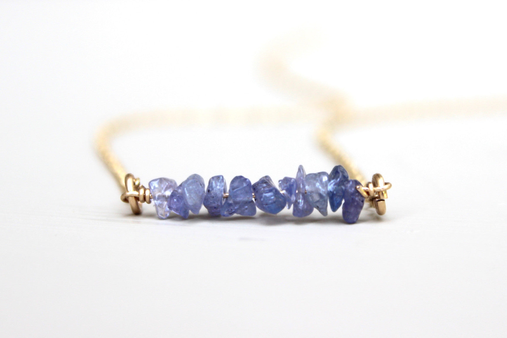 Tanzanite Bar Necklace - Designed By Lei