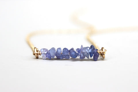 Tanzanite Bar Necklace