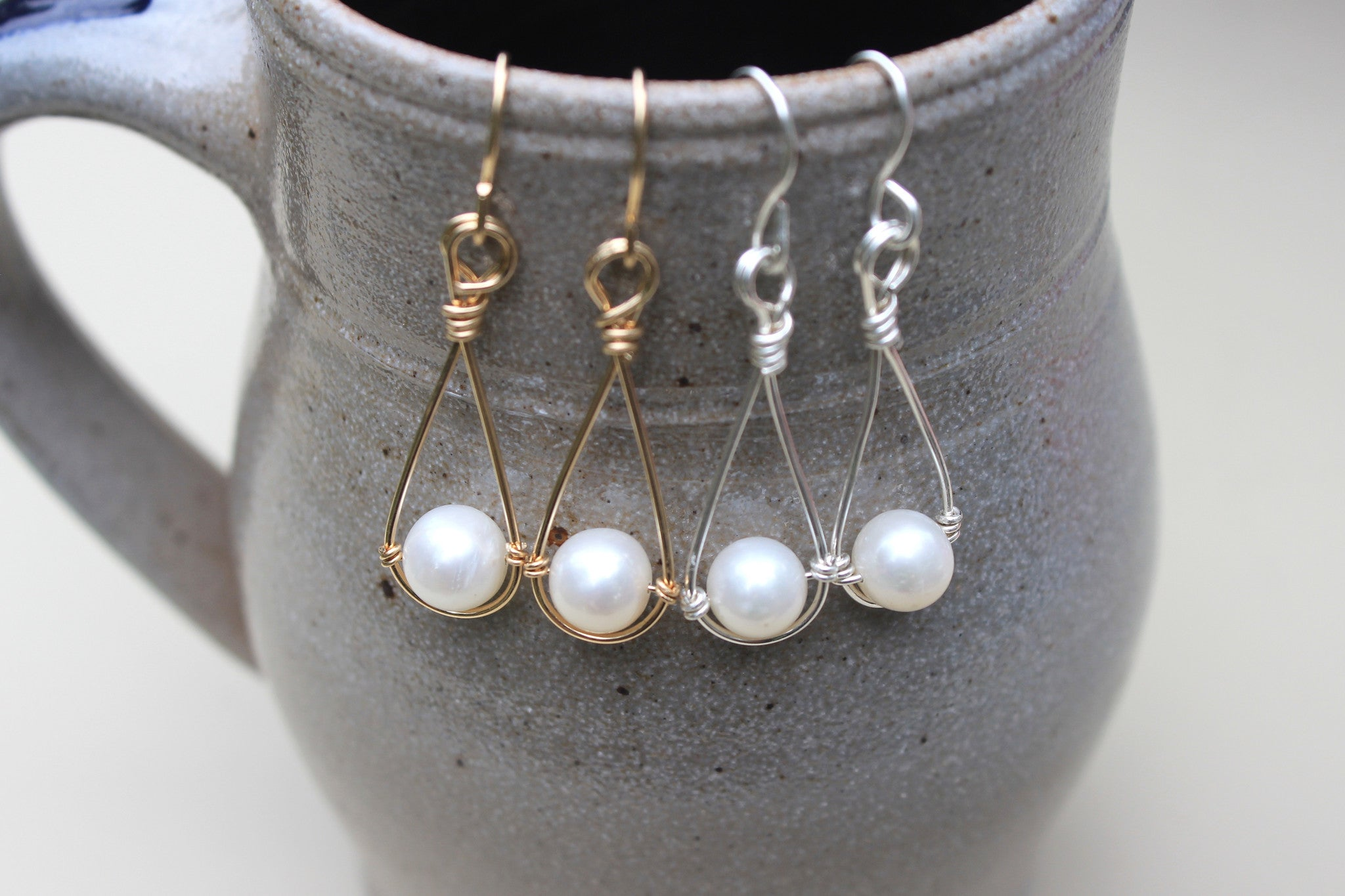 Pearl Drop Earrings - Designed By Lei