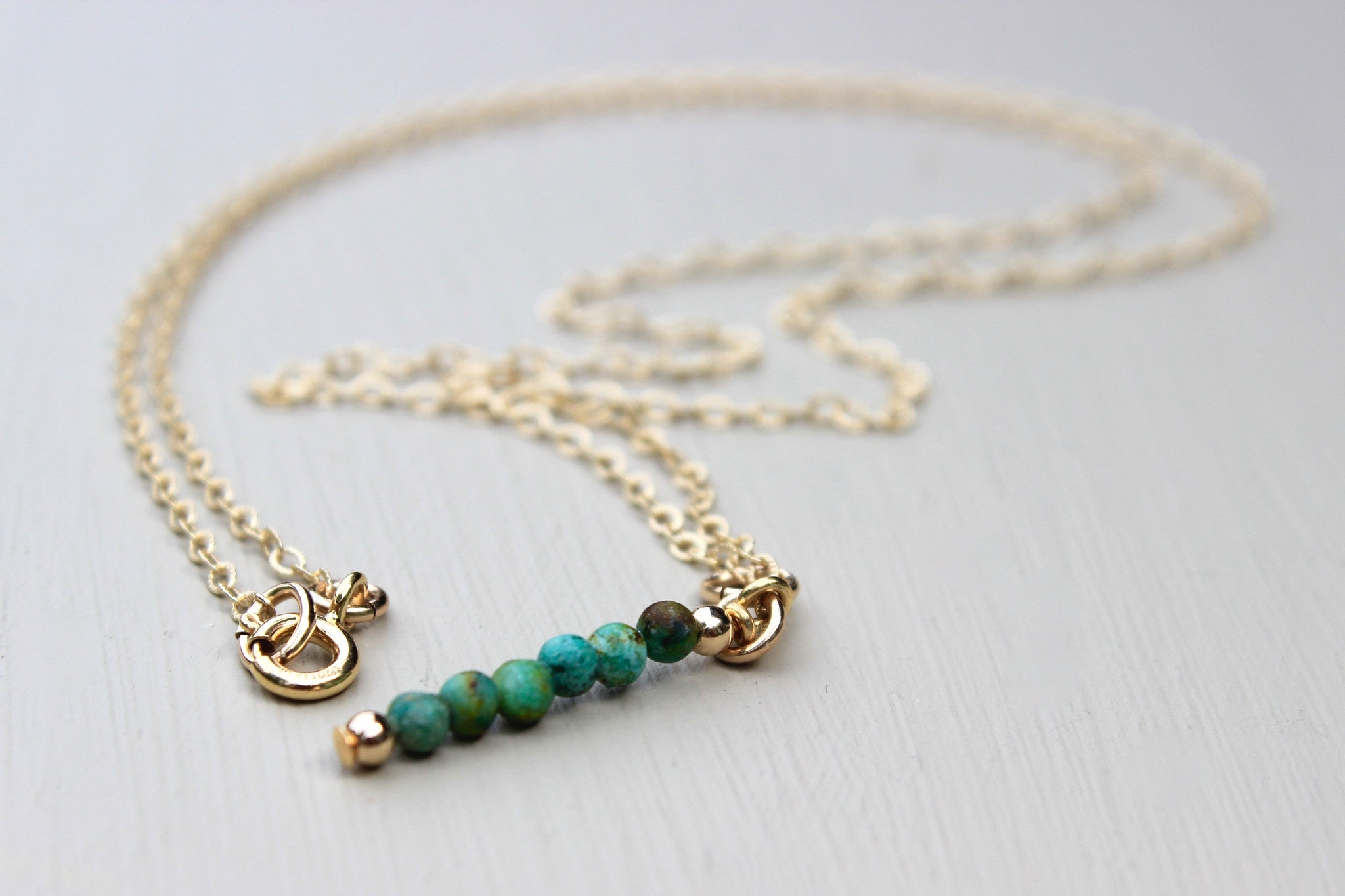 Turquoise Lariat Necklace - Designed By Lei