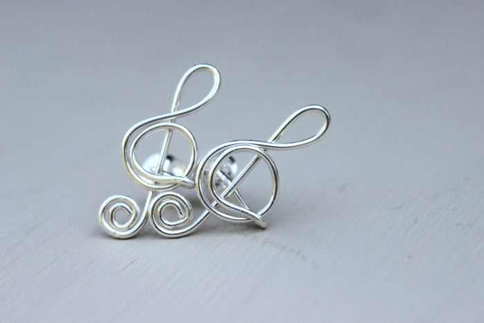 Treble Clef Earrings - Designed By Lei