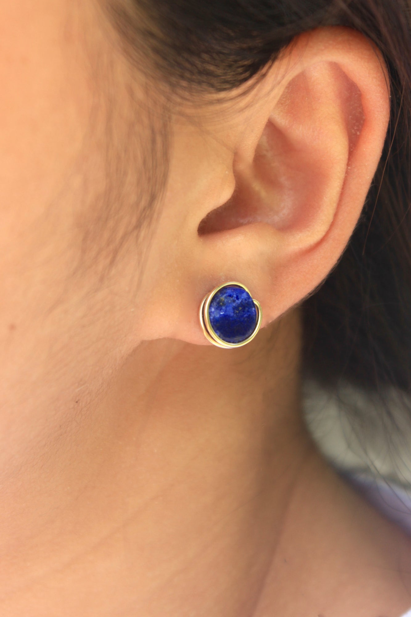 jewellery sophisticato stud earrings drop tear with pearl lapis
