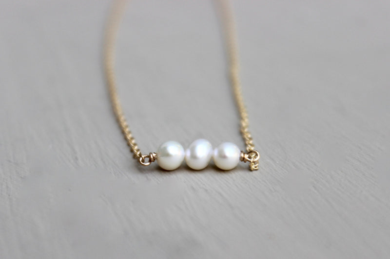 Triple Pearl Necklace - Designed By Lei