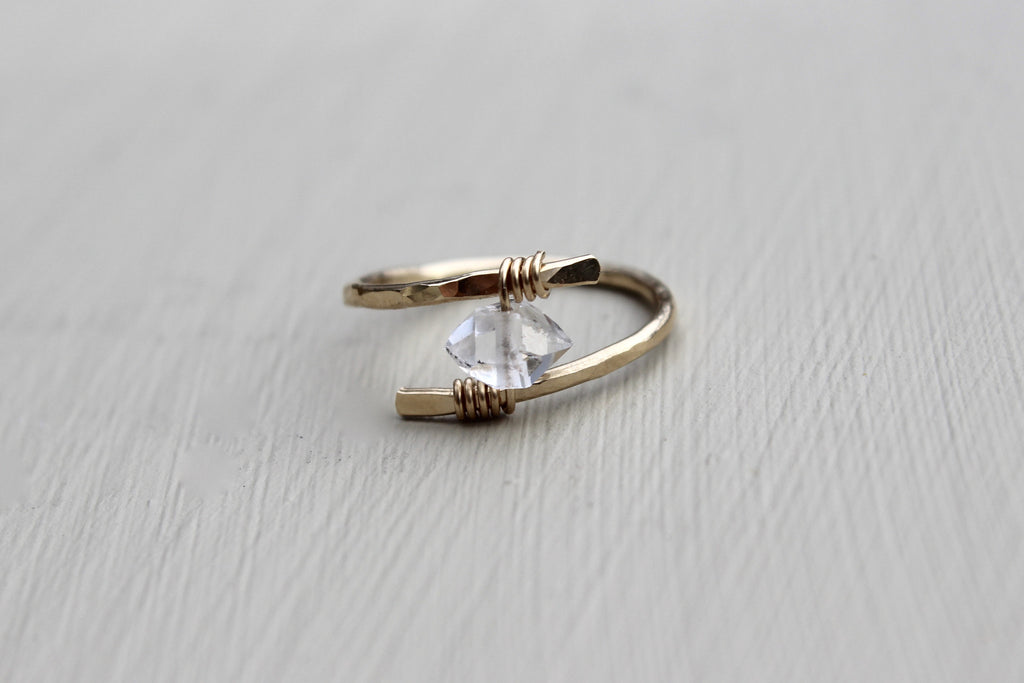 Herkimer Diamond Ring - Designed By Lei