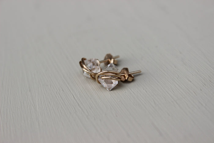 Herkimer Diamond Earrings - Designed By Lei