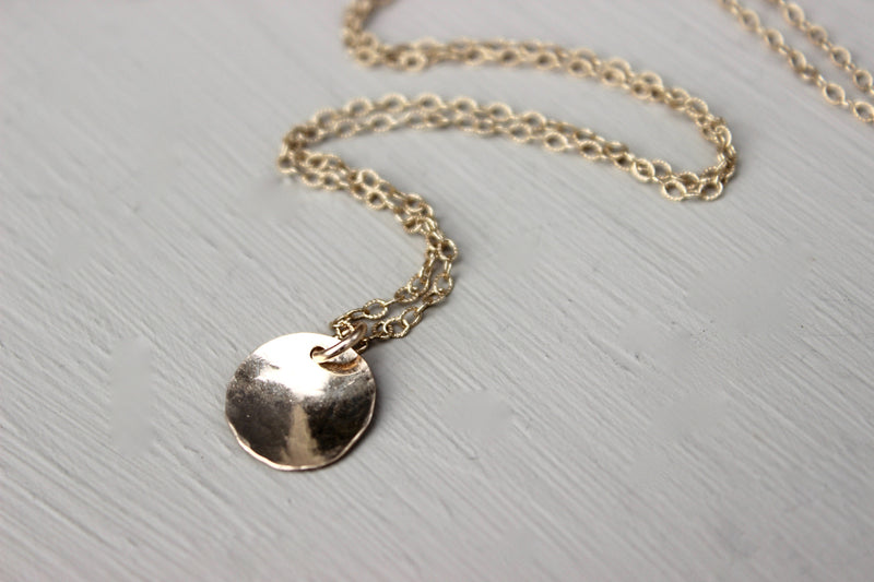 Gold Disc Necklace - Designed By Lei