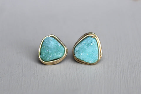 Triangle Turquoise Earrings