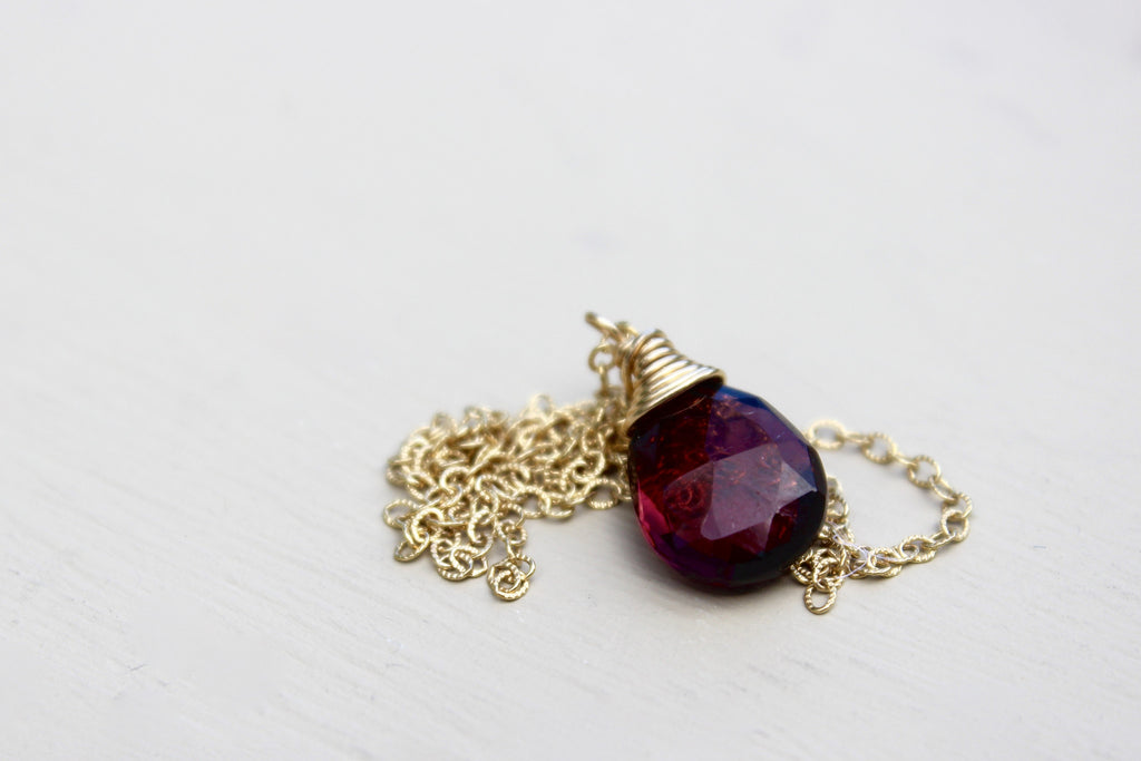 Faceted Garnet Necklace - Designed By Lei