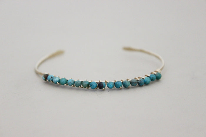 Turquoise Bangle Bracelet - Designed By Lei