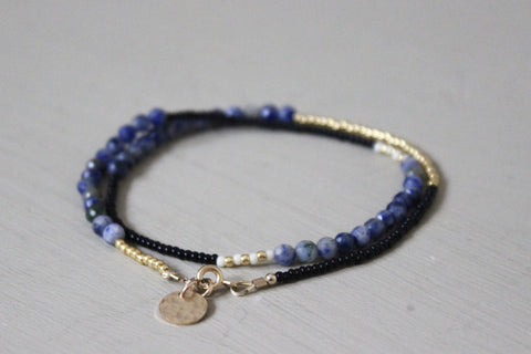 Black, Blue and Gold Wrap
