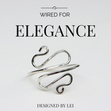 Swirl Wire Ring - Designed By Lei