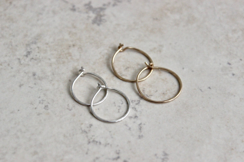 Plain Hoop Earrings