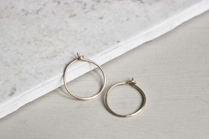 Plain Hoop Earrings - Designed By Lei