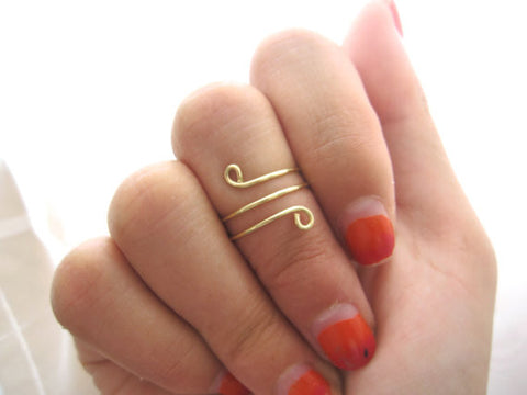 Twisted Knuckle Ring