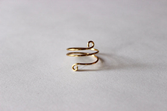 Twisted Knuckle Ring - Designed By Lei